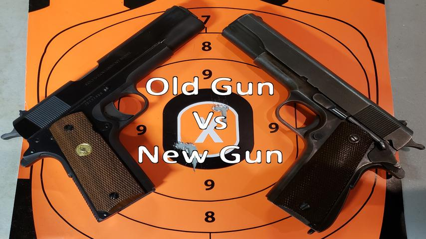 100 year old 1911 vs a new(ish) 1911 accuracy test