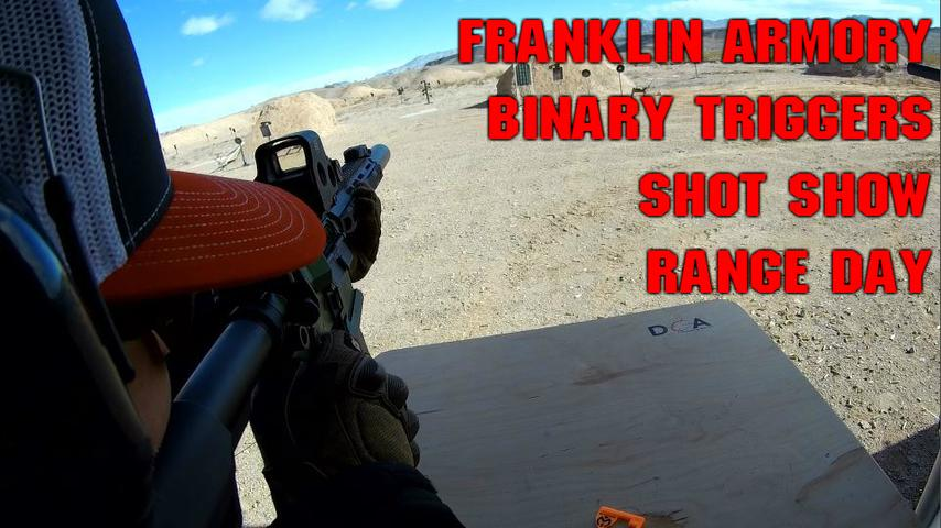 Franklin Armory Binary Triggers Shot Show Range Day 2019