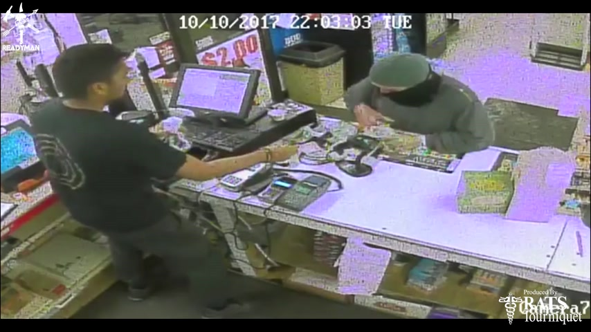 Plan 2 React - Clerk Stops Hi-Point Bandit