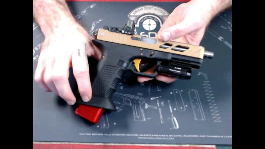SDI assignment week 2 gunsmithing tools, field strip Glock 17