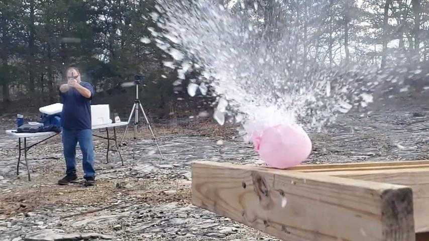Ice Balloons vs bullets