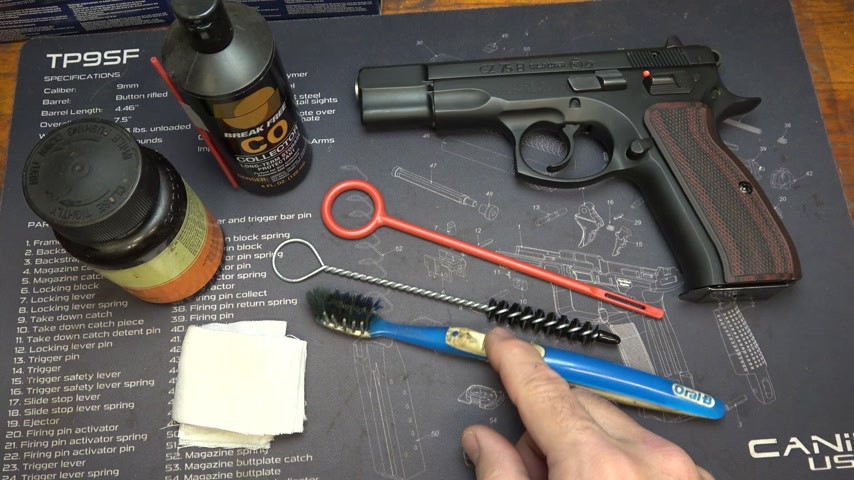 CZ 75  CZ Recommended Cleaning