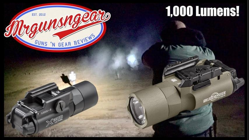 Surefire X300U-A & X300U-B 1,000 Lumen Weapon Light Review