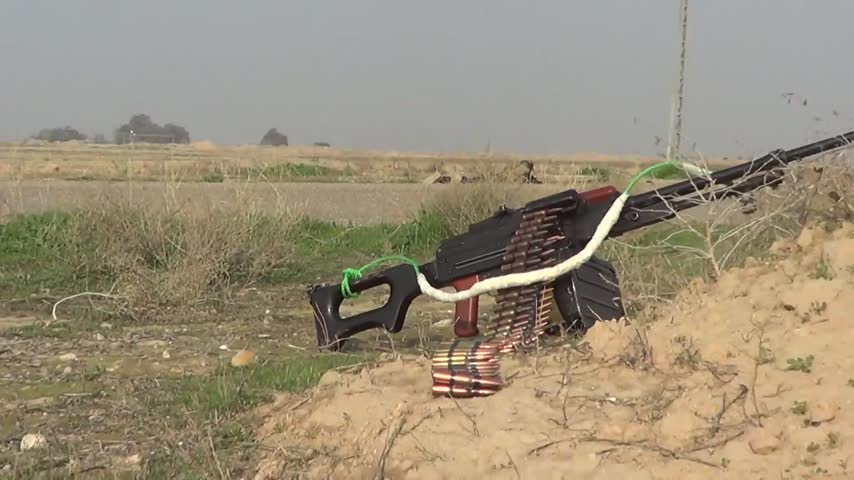 Iraqi Security Forces Removing an IED are Ambushed by ISIS