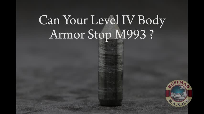 Can Your Level IV Body Armor Do this? 7.62x51mm M993 AP!