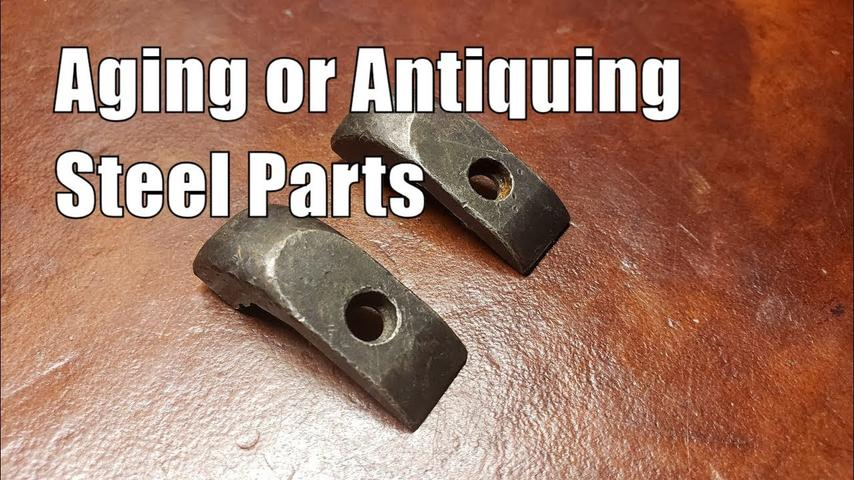 Aging or Antiquing steel parts for Winchester 1895