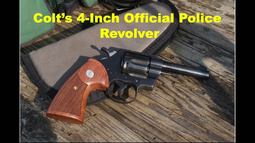 Colt's 4-inch Official Police Revolver