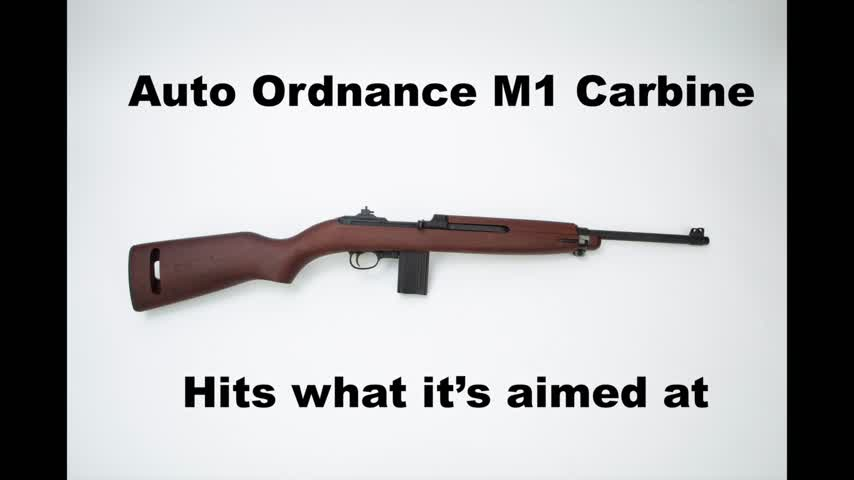 Auto Ordnance M1 Carbine hits what it's aimed at