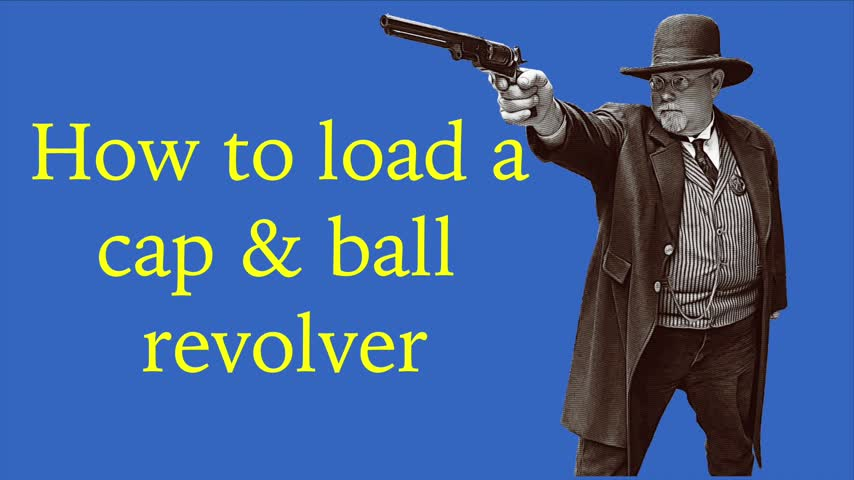 How to load a cap & ball revolver