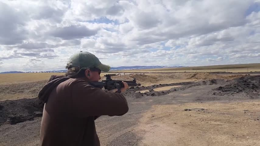 Kevin shooting the CR-12 in Laramie
