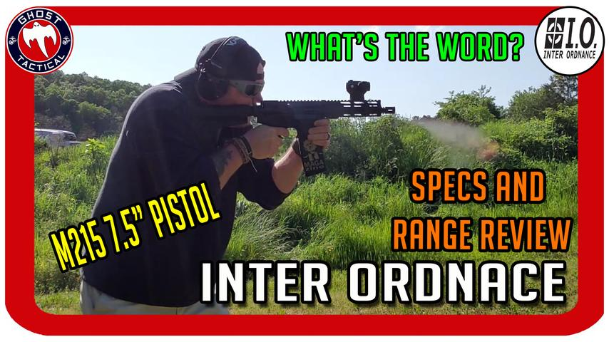"BRAND NEW Inter Ordnance (I.O.) 7.5"" AR Pistol Review"
