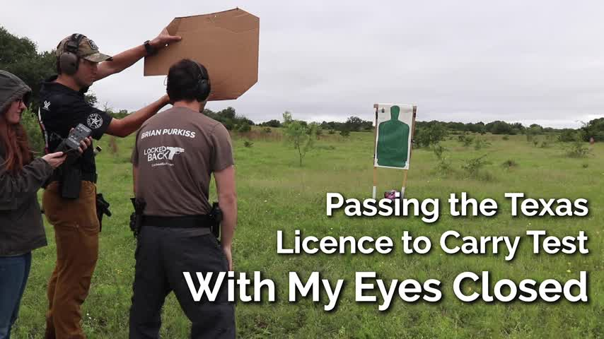 Passing the Texas LTC Test With My Eyes Closed