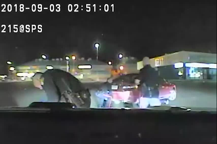 Canadian Cops Lift Car Off A Man Eh