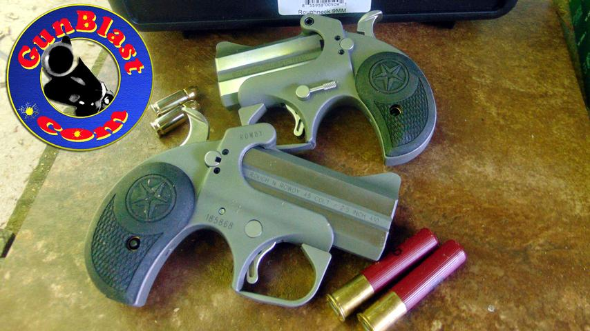 """Bond Arms' NEW """"Roughneck"""" and """"Rowdy"""" 2-Shot Derringer Pistols"""
