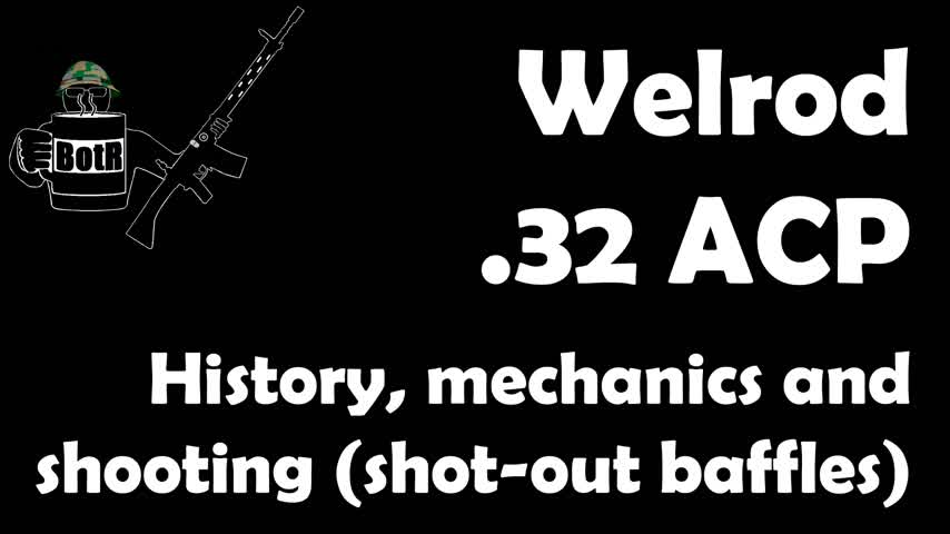 Welrod .32 ACP Range Test for Accuracy and Sound