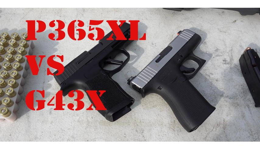 Sig P365xl First Shots and vs a Glock 43x