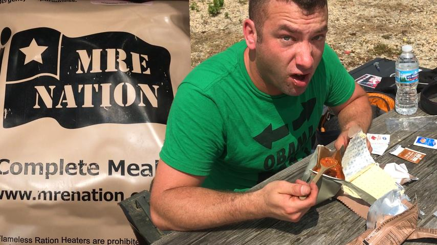 Wombat Eats an MRE (Meal Ready to Eat Review)