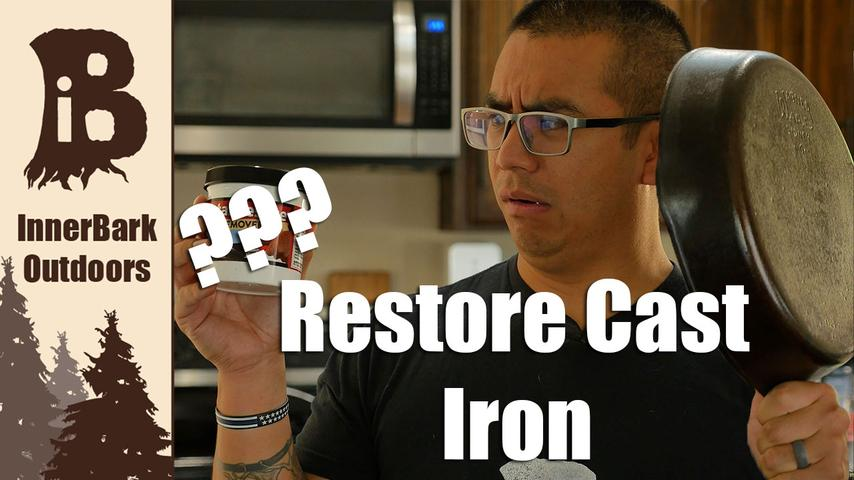 Cast Iron Restoration! | Completely Remove Rust and Season