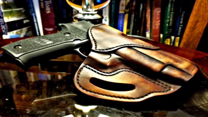 Breaking in a 1791 Gunleather Holster Leather holster stretching technique