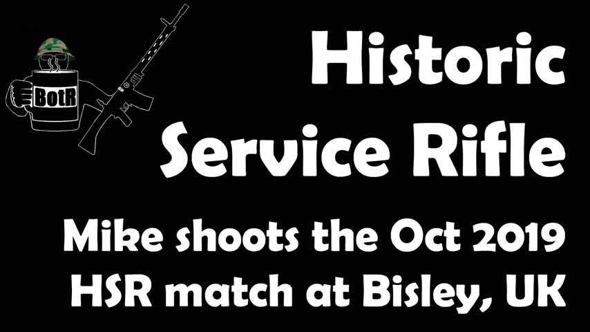 Historic Service Rifle Match, NSC Bisley, October 2019
