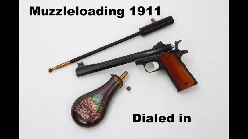 Muzzleloading 1911 - Dialed In