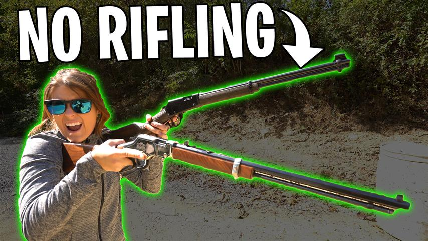 22LR SMOOTHBORE VS RIFLE! - The Ammo Show!