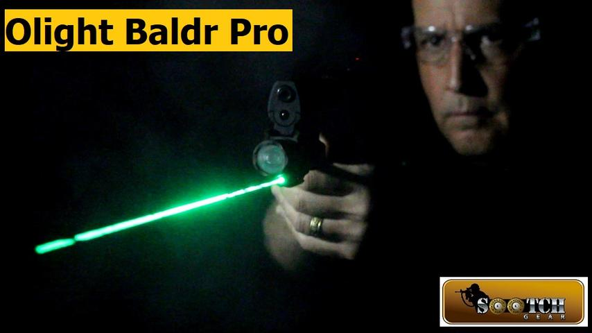 Brightest Weapon Light at 1350 Lumens with Green Laser:  Olight Baldr Pro Review