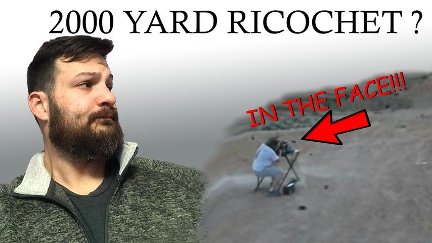 2000 Yard 50BMG Ricochet to the Head. Is It Real?