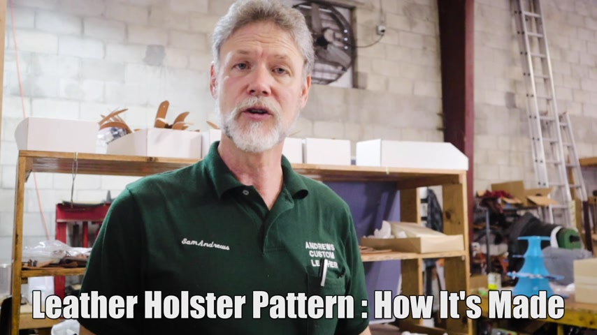 Leather Holster Pattern Making Shortcuts  For Pancake Holster /Scabbard Holster