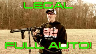 LEGAL FULL AUTO BELT FED!!! SMG 22