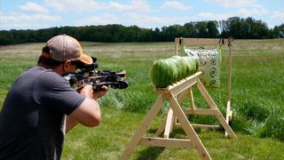 How Many Watermelons will a Crossbow Shoot Through?