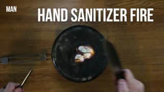 How to Make Fire with Hand Sanitizer
