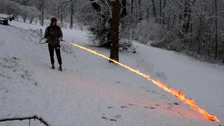REAL Homemade Flamethrower