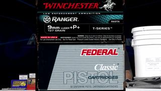 Ammo Quest 9mm: Federal 9BPLE 115 +P+ & Win Ranger-T 127 +P+